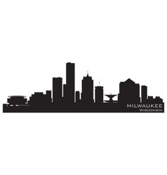 Milwaukee wisconsin skyline detailed silhouette vector