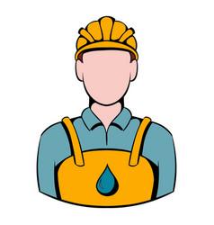 oilman icon icon cartoon vector image vector image