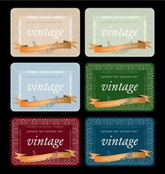 wine labels17 vector image