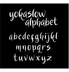 yokaslow alphabet typography vector image vector image