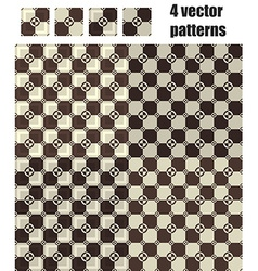 3d square and circle pattern 4x1 brown vector