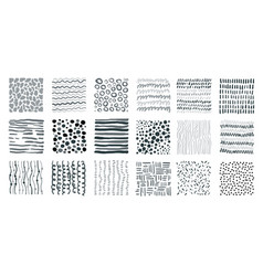 abstract monochrome textures different seamless vector image