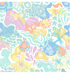 abstract sunny summer childish seamless vector image