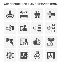 Air conditioner service vector