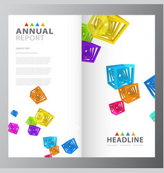 Annual business report template vector