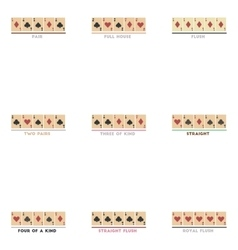 Assembly flat icons poker Hands vector