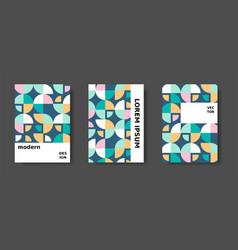 Bauhaus swiss modernism cover annual report vector