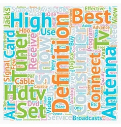 best hdtv antenna text background wordcloud vector image
