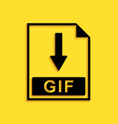 Black gif file document icon download gif button vector