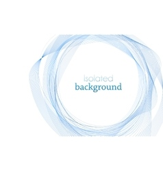 Blue Abstract Mesh Background with Circles vector image