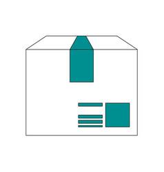 box cardboard isolated vector image