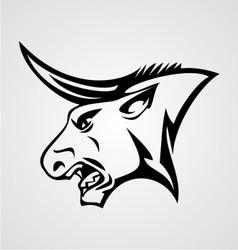Bulls Head vector image