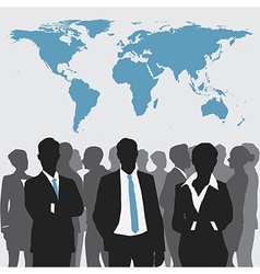 Business meeting with world map vector image