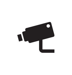 Cctv - black icon on white background vector