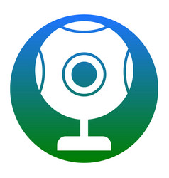 chat web camera sign white icon in bluish vector image