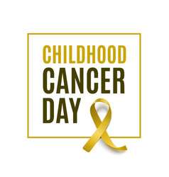 Childhood cancer day - modern square poster card vector