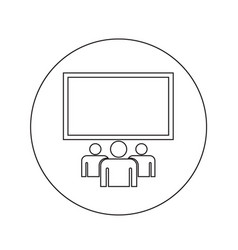 Cinema theater hall icon design vector