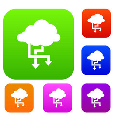 Cloud and arrows set collection vector
