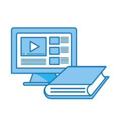 computer video icon vector image