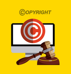 Copyright concept desi vector