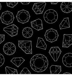 Diamonds and crystals vector