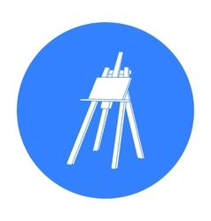 Easel with masterpiece icon in black style vector image