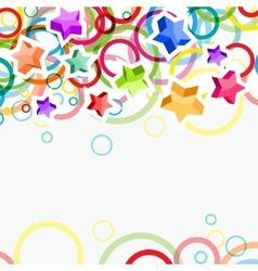 festive background with bright stars and circles vector image