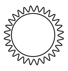 figure sticker sun icon vector image