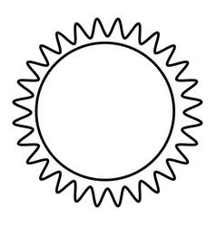 Figure sticker sun icon vector