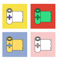 Flat icon design collection medicine napkins vector