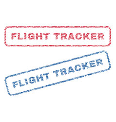 Flight tracker textile stamps vector