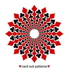 gambling card suit poker pattern made vector image