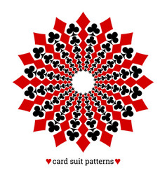 gambling card suit poker pattern made with vector image