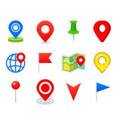 geo pin as logo geolocation and navigation icon vector image