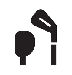 golf club heads icon in outline design vector image