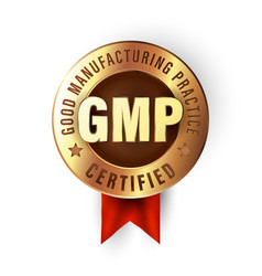 Good manufacturing practice stamp gmp certified vector