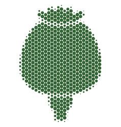 Halftone dot opium poppy icon vector