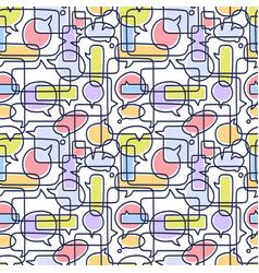 hand drawn speech bubbles seamless pattern vector image