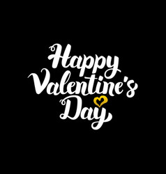 Happy valentine day handwritten calligraphy vector
