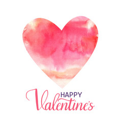 happy valentine s hand drawn lettering design vector image