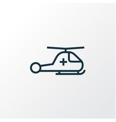 Helicopter outline symbol premium quality vector