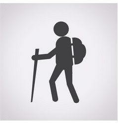 hiking icon vector image