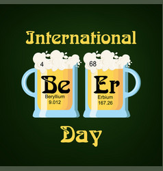 International beer day greeting card template with vector