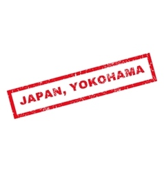 Japan Yokohama Rubber Stamp vector