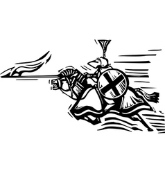 Jousting Knight Right vector image