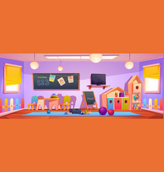 kids playroom interior empty indoors nursery room vector image