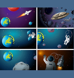 Large space background scenes vector