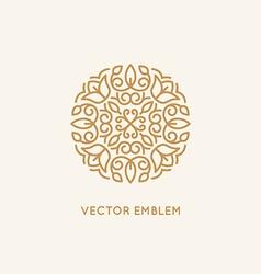 Logo design template and monogram concept vector