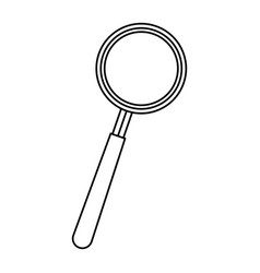 magnifier search find technology object vector image