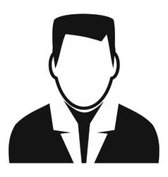 Man avatar simple sign vector